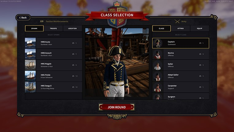 Holdfast NaW - Spawn Menu User Interface